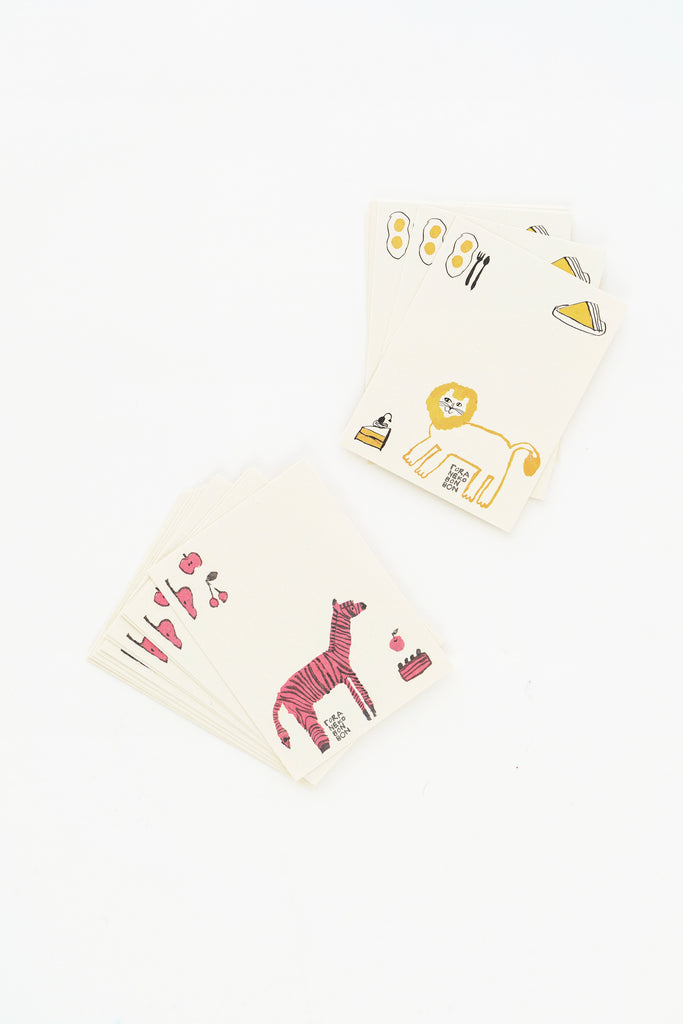 Message Card Set, Lion and Zebra