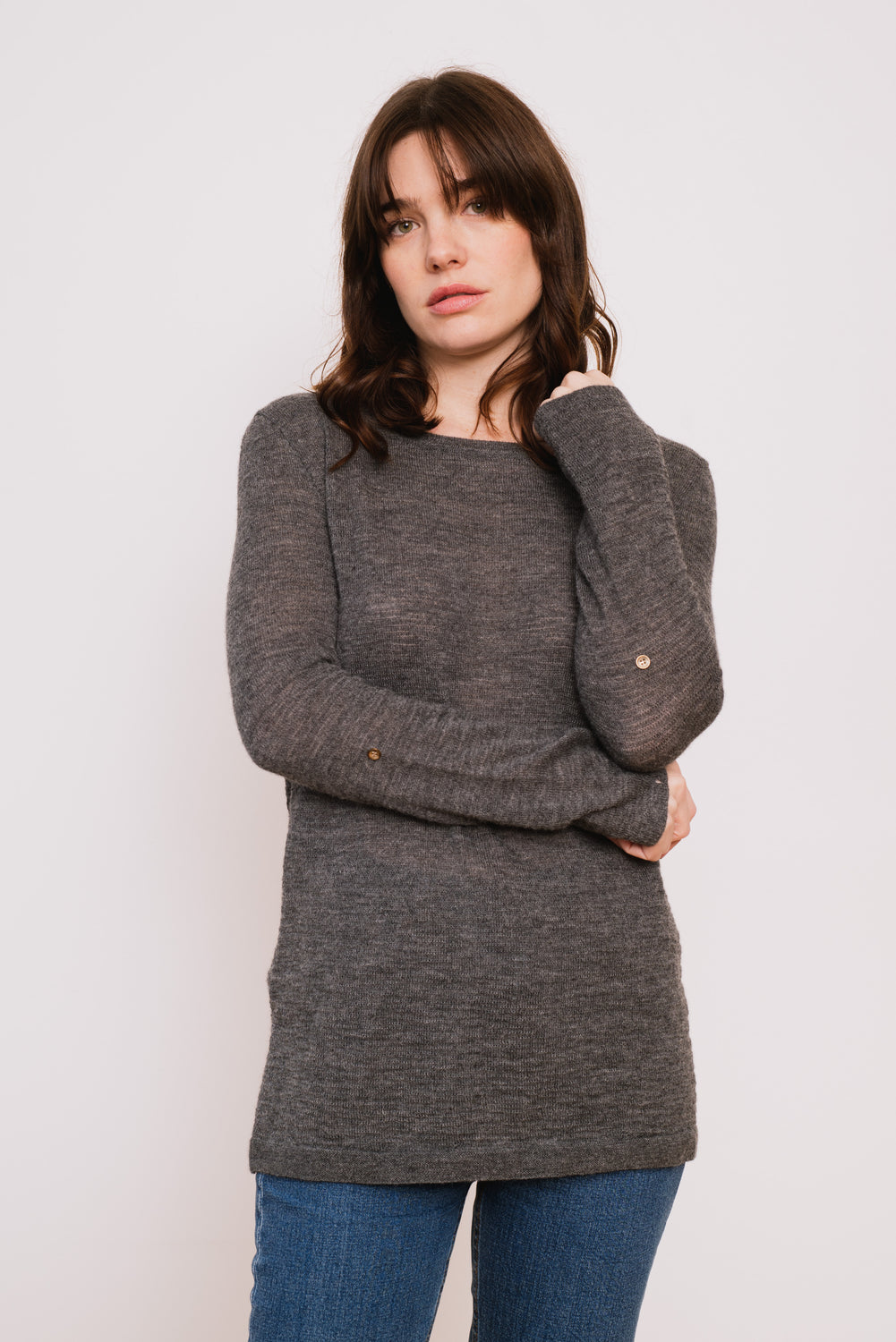 Ingrid Sweater in Stormy Grey
