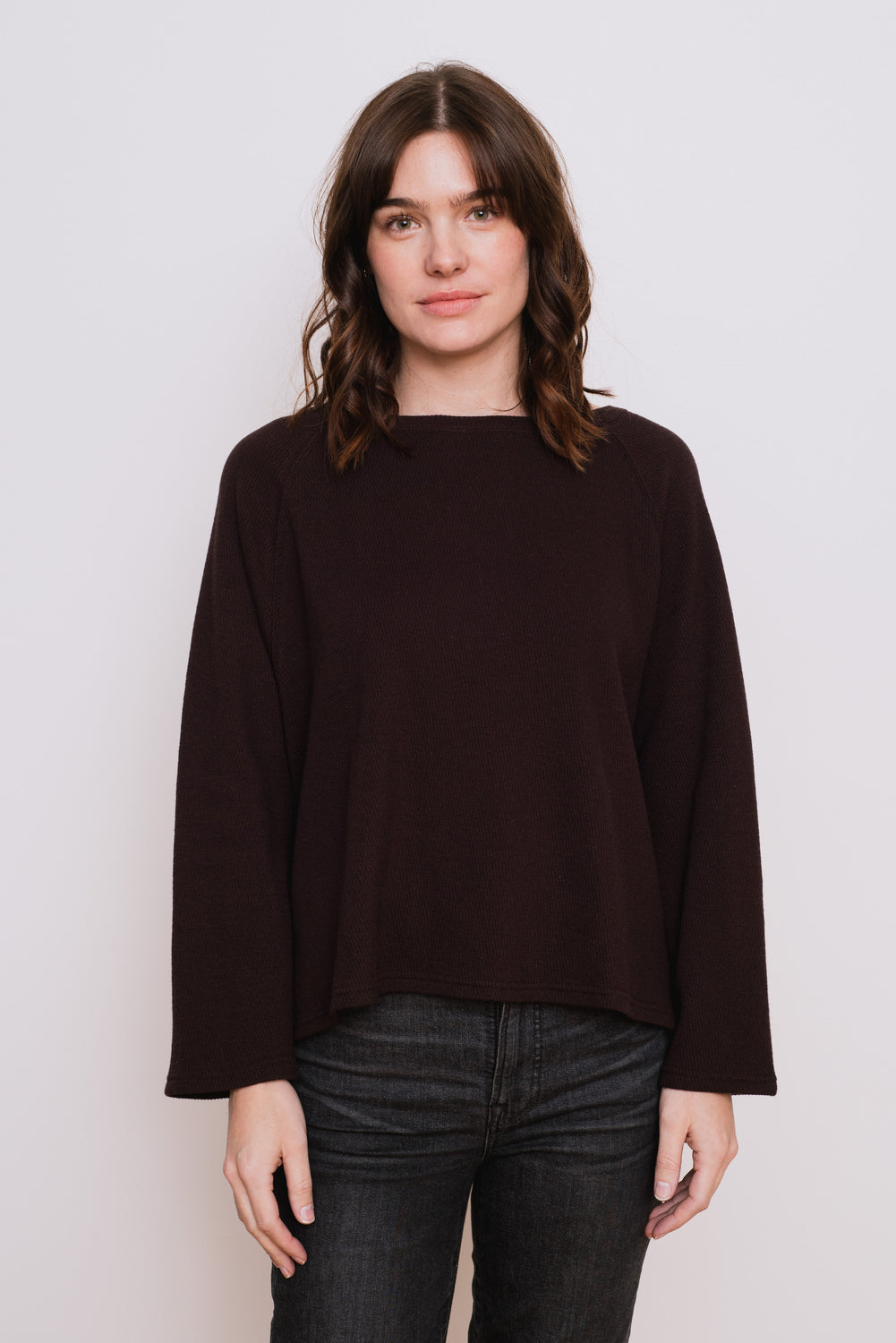 Cotton Wool Pullover, Brown