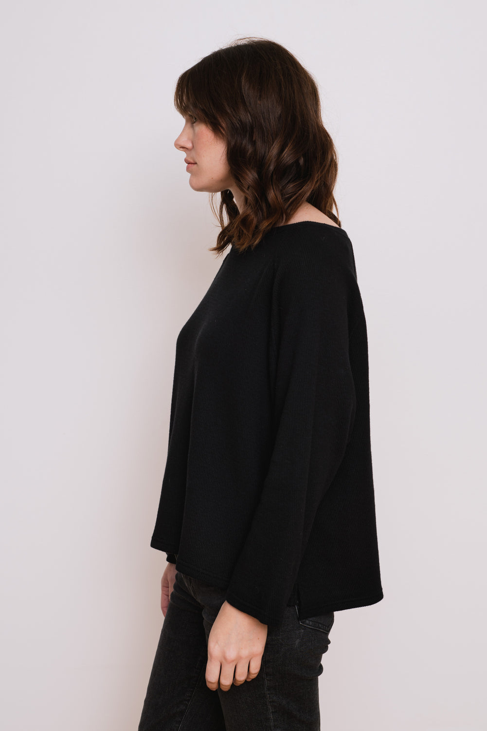 Cotton Wool Pullover, Black