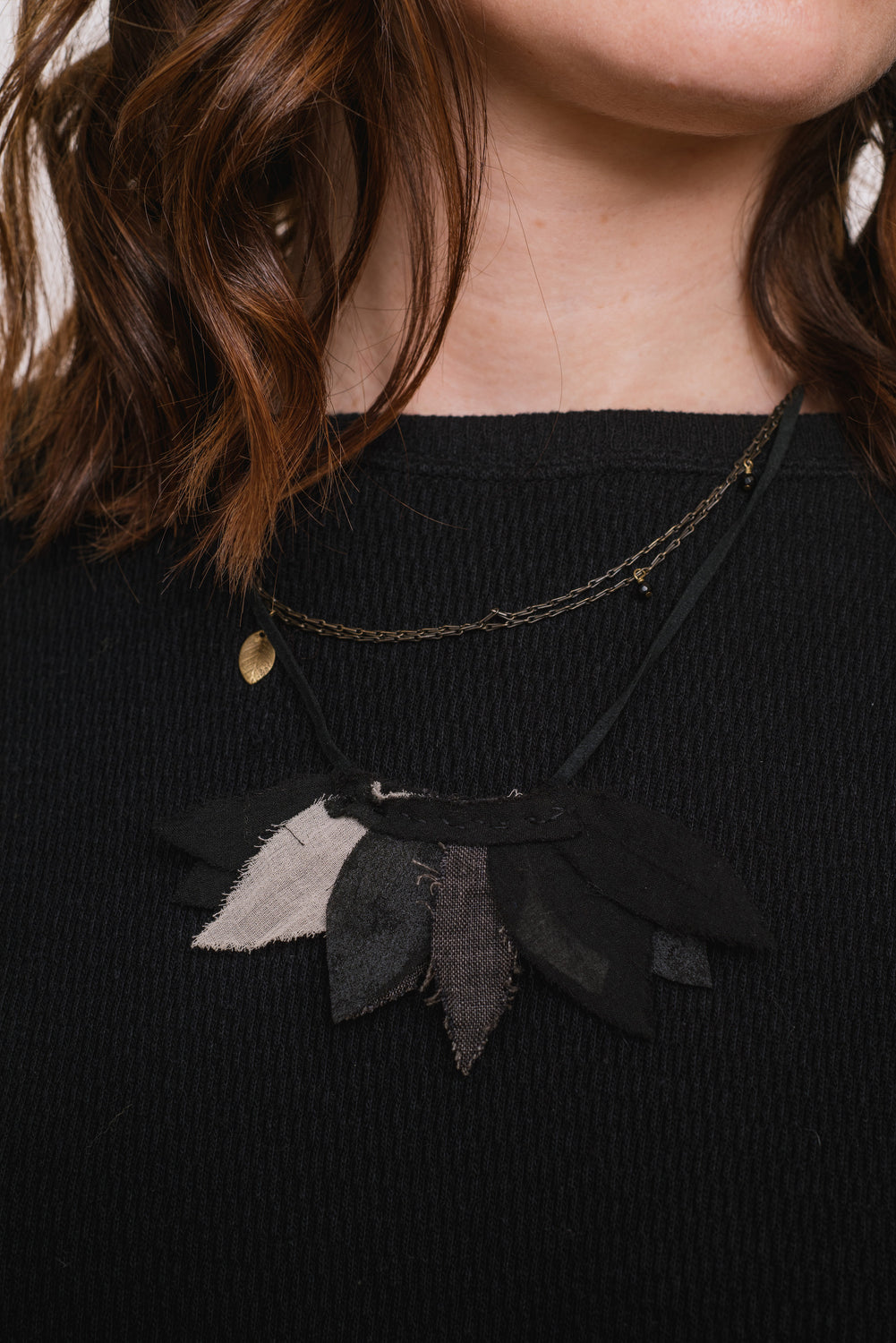 Layered Linen Necklace