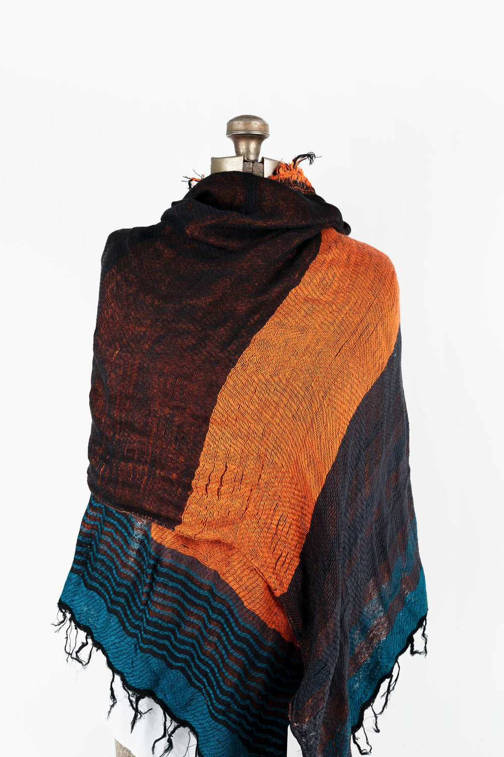 Woven Cotton Middle Shawl 21