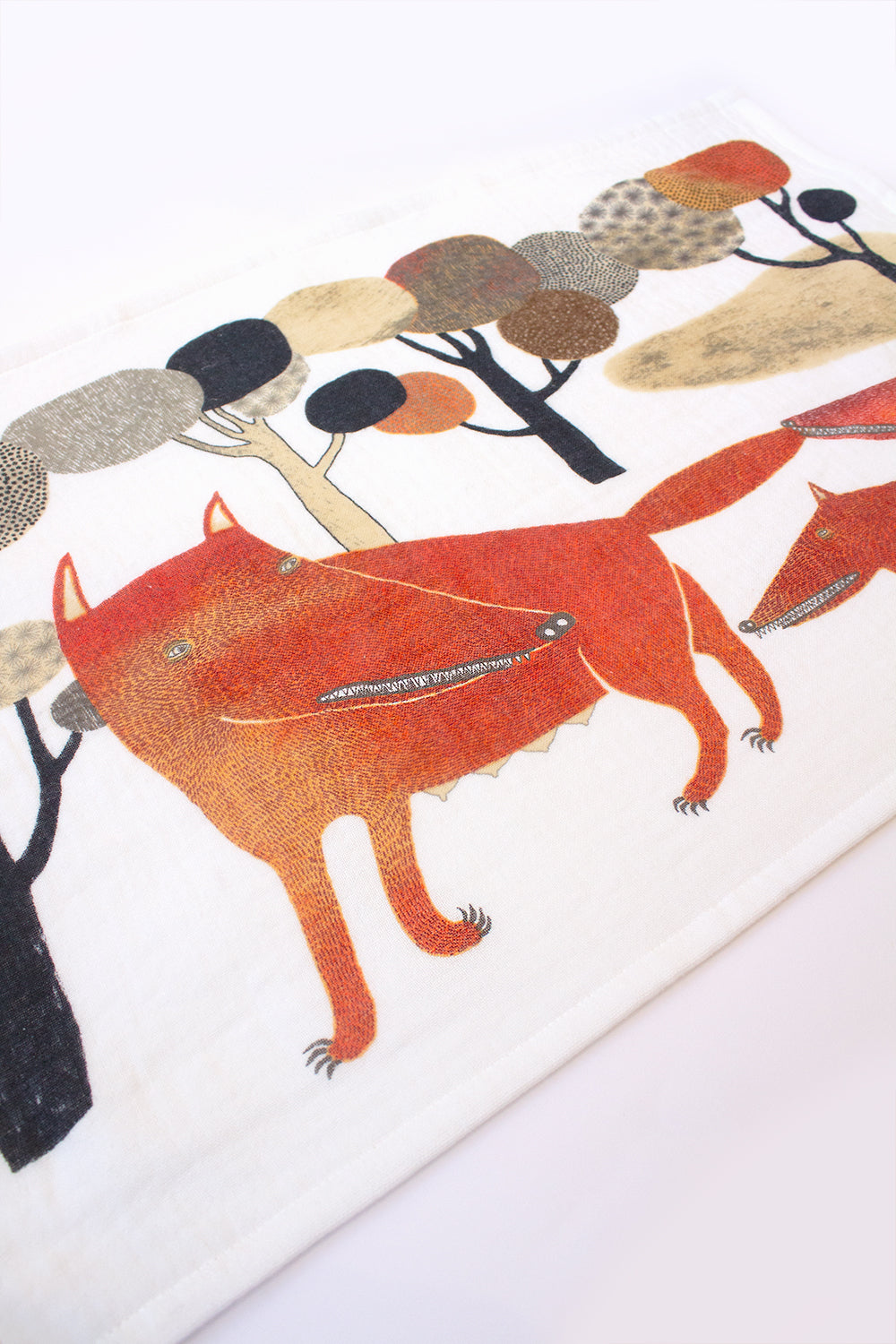Imabari Cotton Tea Towel, Wolf