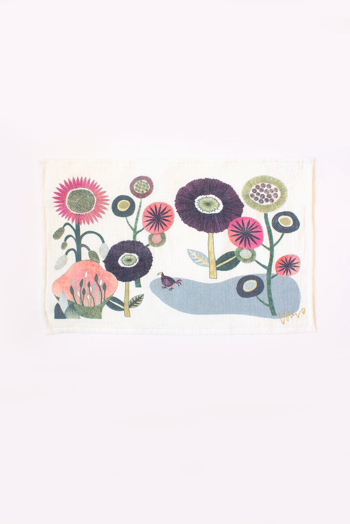 Imabari Cotton Tea Towel, Garden