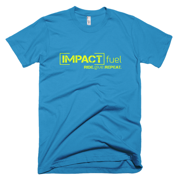 Impact Multiplier - Men's t-shirt - Teal with Neon