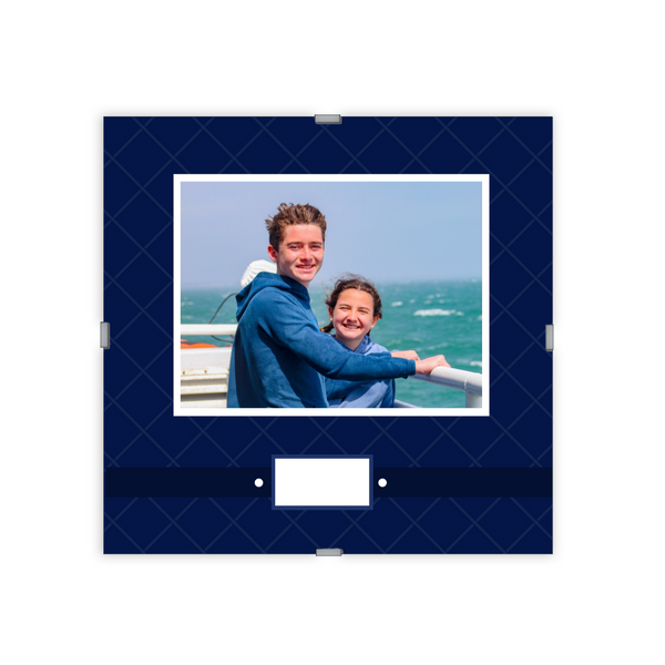 Monogram Photo Frame | Quilted Navy