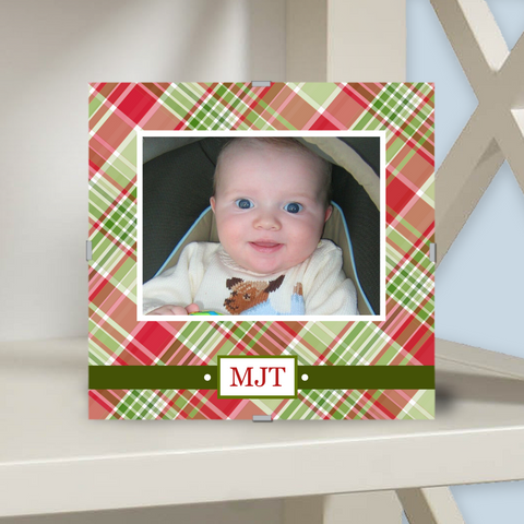 Monogram Photo Frame | Edgartown Holiday Plaid