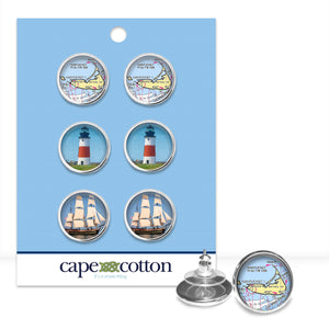 Preppy Earring Trio | Nantucket Vacation
