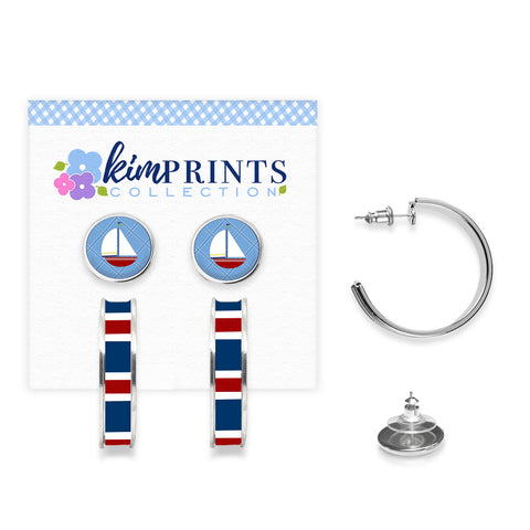 Ahoy Sailboat Earring Set