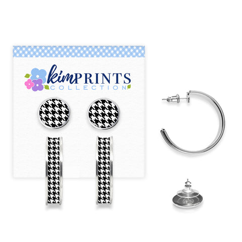 Houndstooth Earring Set