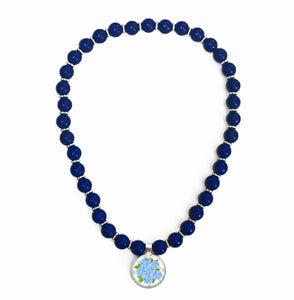 Sconset Blue Beaded Necklace