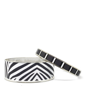 Zebra Bangle Bracelet Set