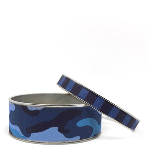 Camo Blue Bangle Bracelet Set