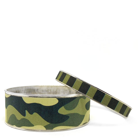 Camo Green Bangle Bracelet Set