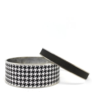 Houndstooth Bangle Bracelet Set