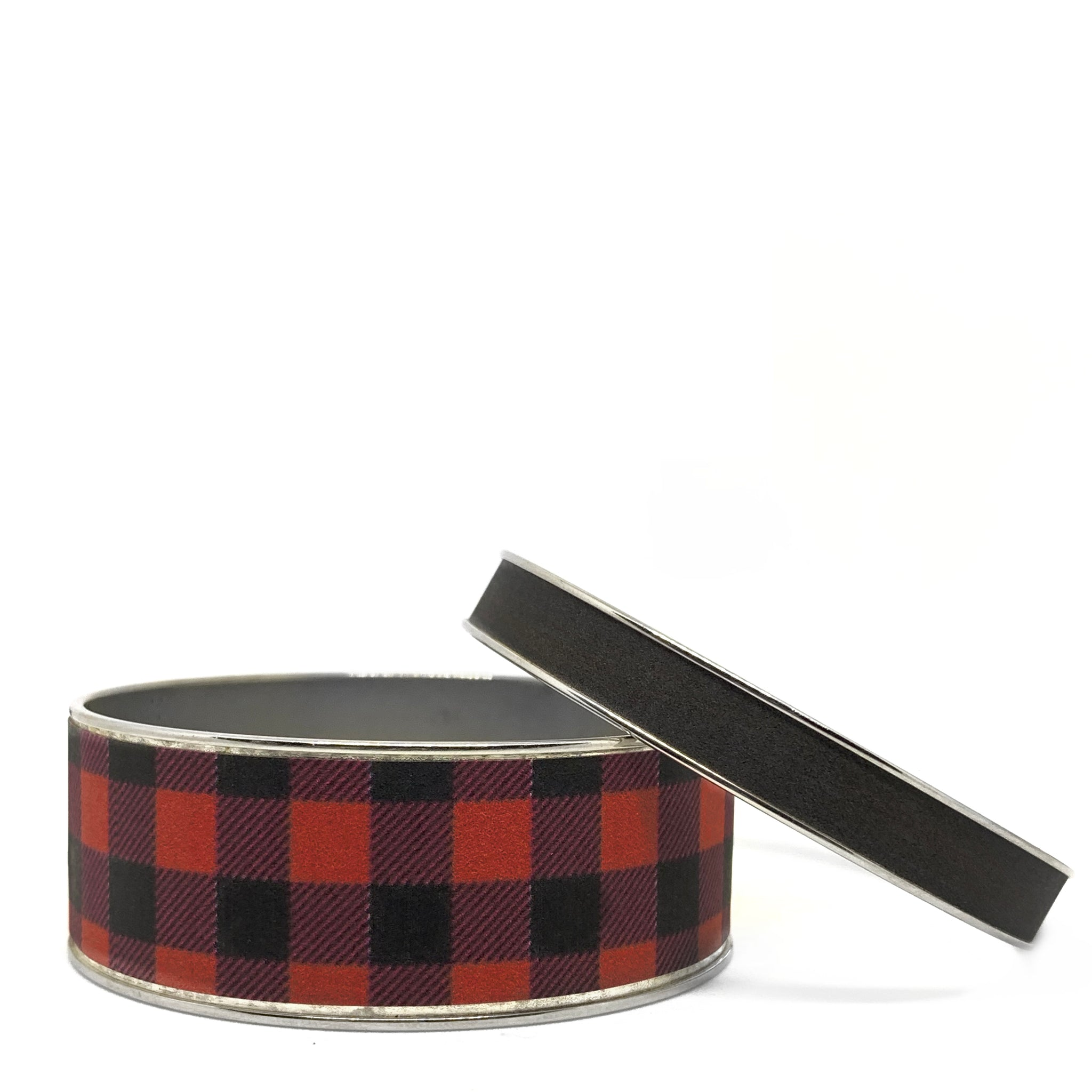 Buffalo Plaid Red Bangle Bracelet Set