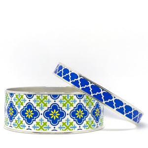 Moroccan Blue Bangle Bracelet Set