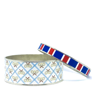 Tennis Anyone Blue Bangle Bracelet Set