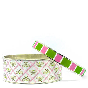 Tennis Anyone Pink Bangle Bracelet Set
