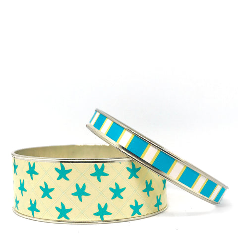 Starfish Bangle Bracelet Set