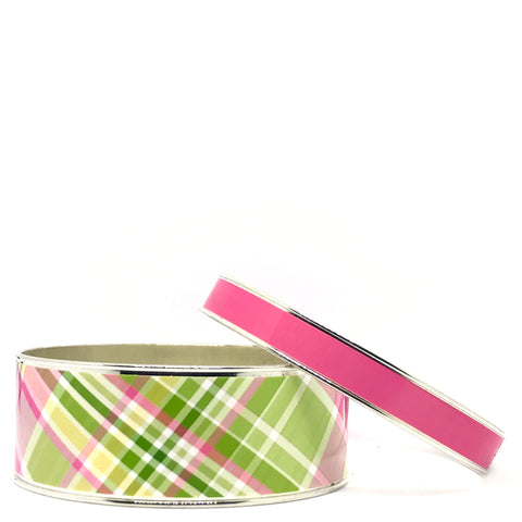 Madras Pink Stackable Bangle Set