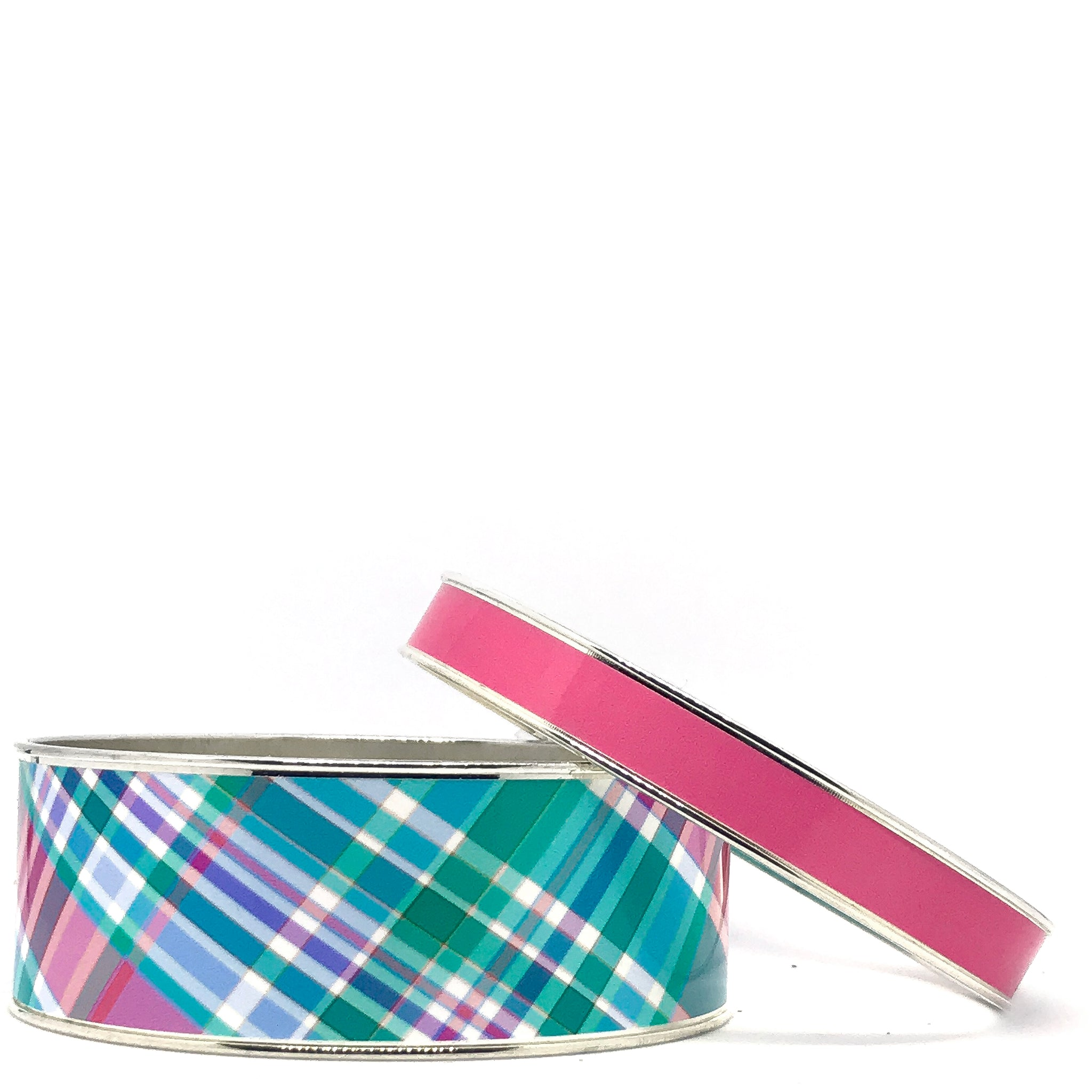 Madras Watch Hill Plaid Bangle Bracelet Set