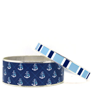 Anchors Away Bangle Bracelet Set