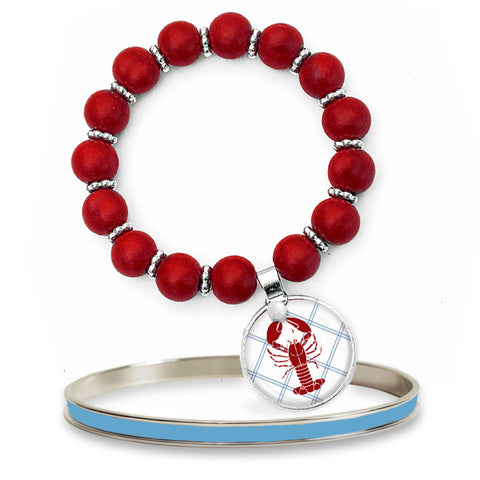 Lobster Roll Beaded Bracelet Set