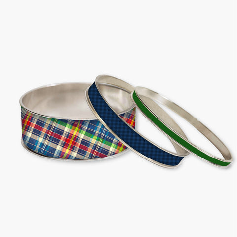 Perfectly Plaid Stackable Bangle Set