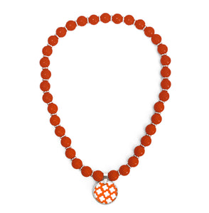 Signature Petal Orange Beaded Necklace