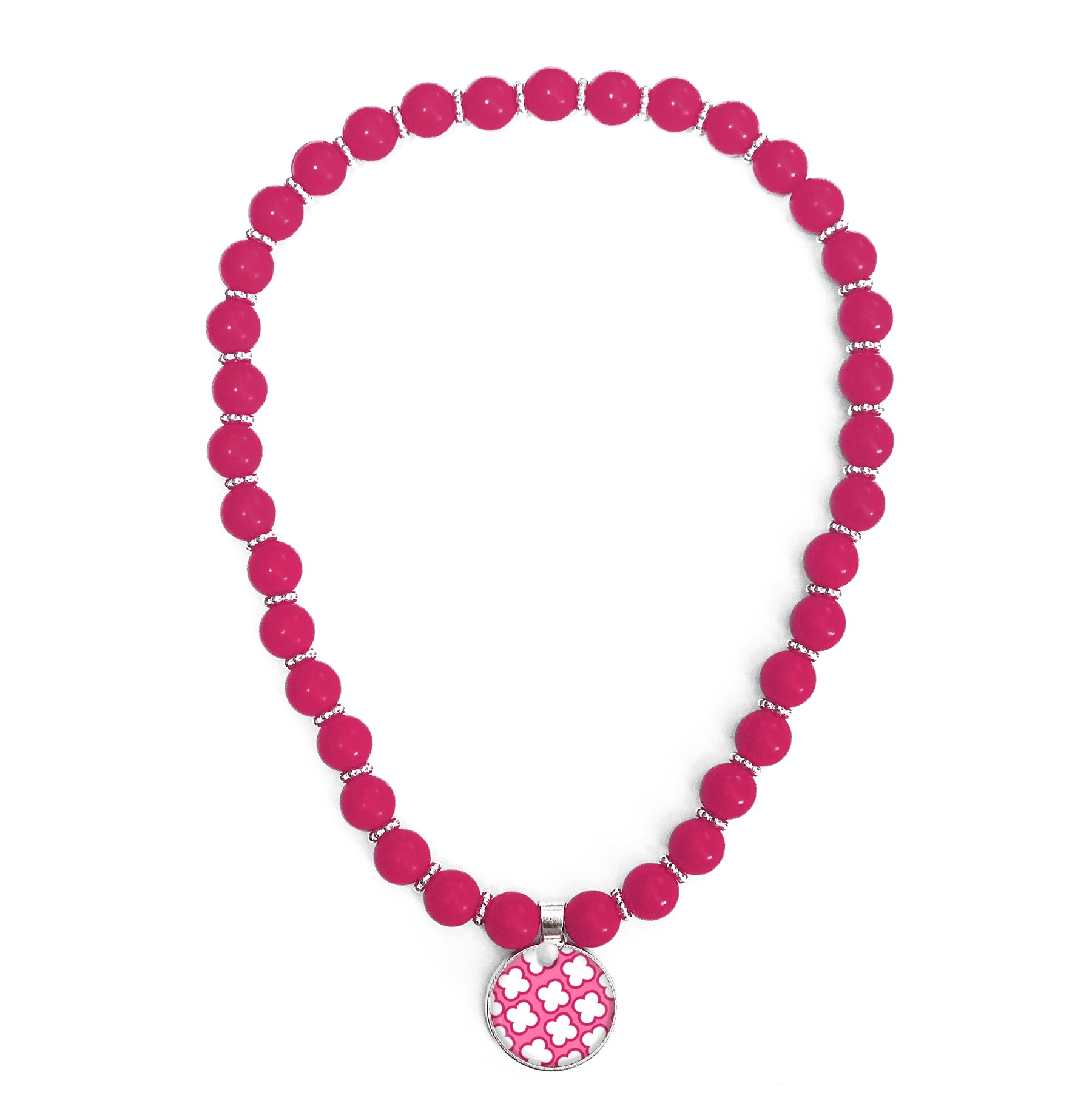 Signature Petal Pink Beaded Necklace