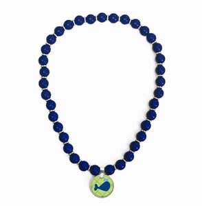 Whales Tales Blue Beaded Necklace