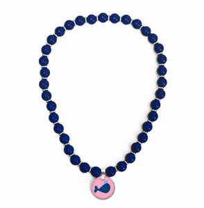 Whales Tale Pink Beaded Necklace