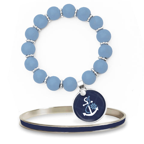 Anchors Away Beaded Bracelet Set