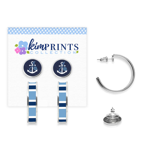 Anchors Away Earring Set