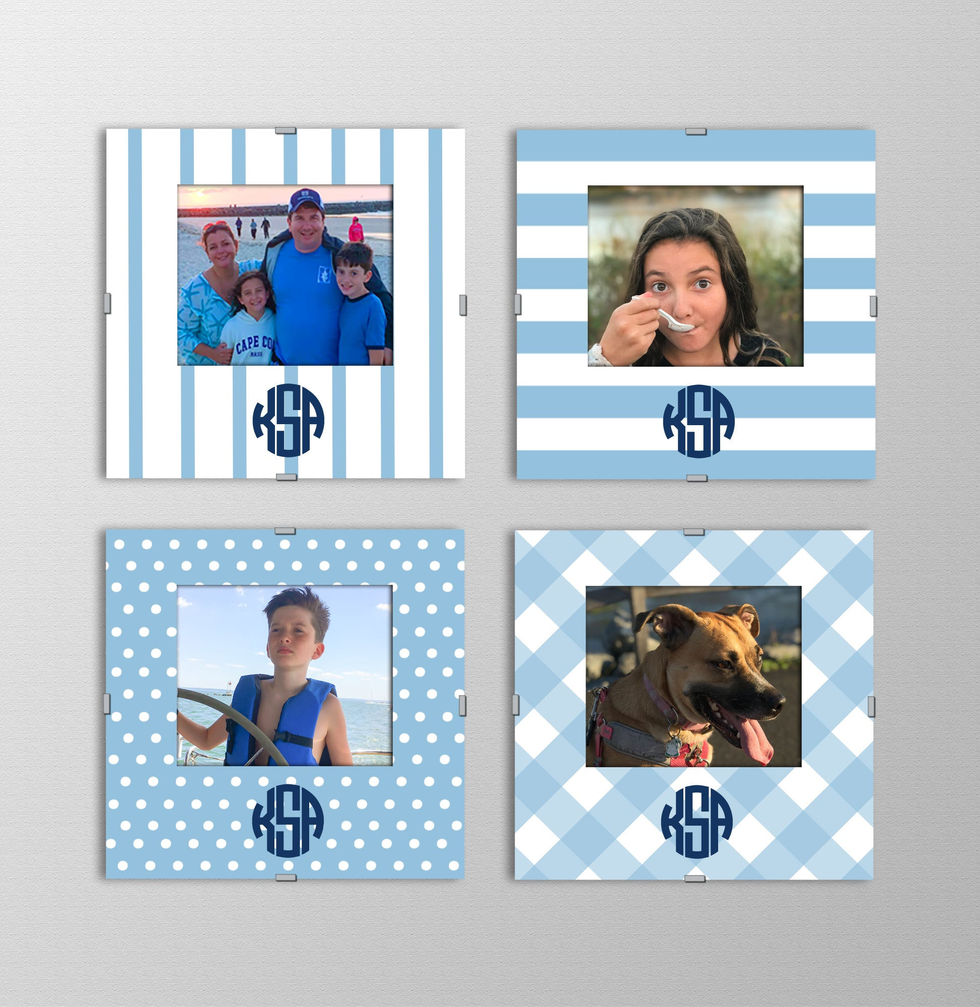 Monogram Photo Frames | True Blue