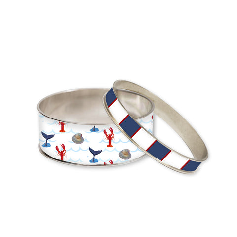 Cape Cod Seashore Bangle Bracelet Set