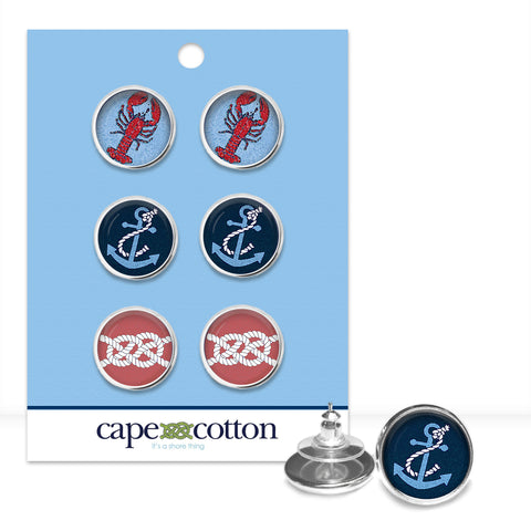 Preppy Earring Trio |  Cape Codder