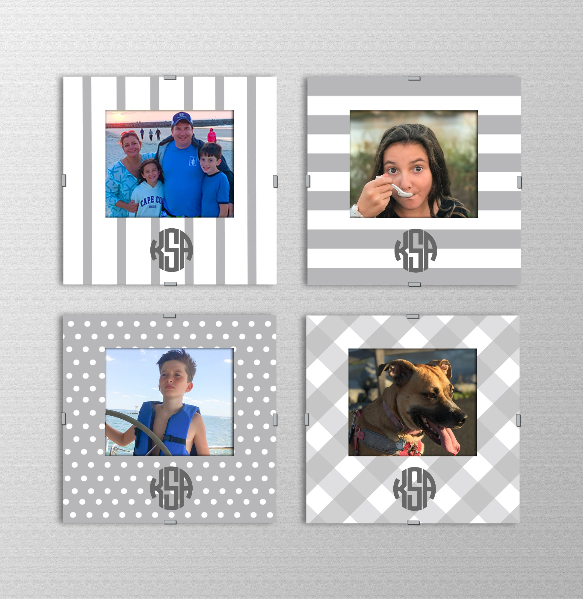 Monogram Photo Frames | Platinum
