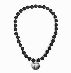 Houndstooth Beaded Necklace