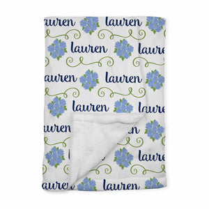 Personalized Baby Blanket | Sconset Blue