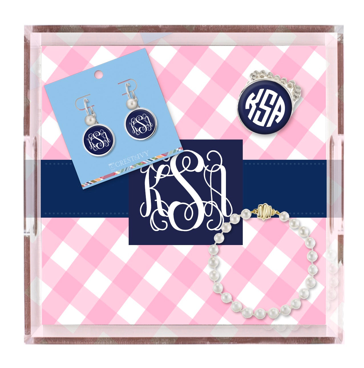 Monogram Trinket Tray
