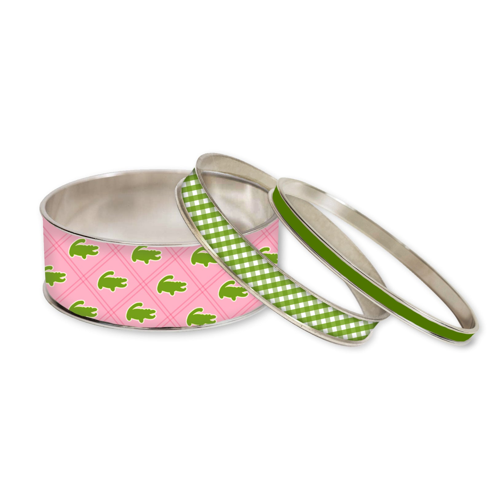 Preppy Gator Stackable Bangle Set