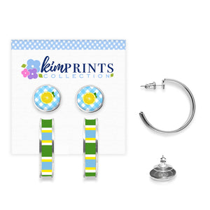 Lemon Squeeze Earring Set