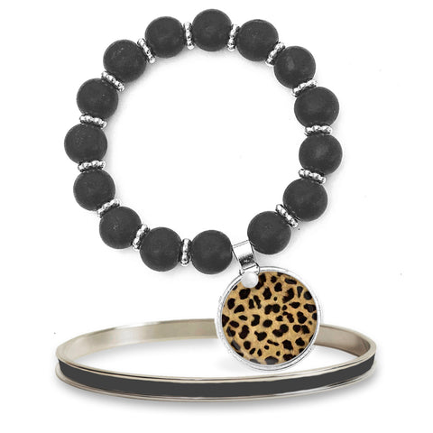 Leopard Beaded Bracelet Set
