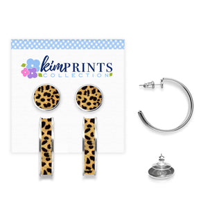 Leopard Earring Set