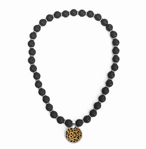 Leopard Beaded Necklace