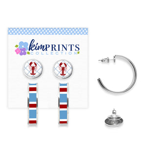 Lobster Roll Earring Set