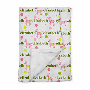 Personalized Baby Blanket | Matty Giffy Pink