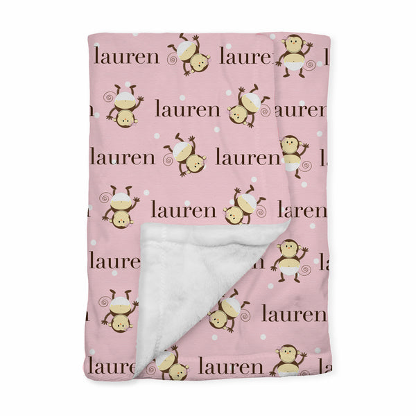 Personalized Baby Blanket | Monkey Moo Sue